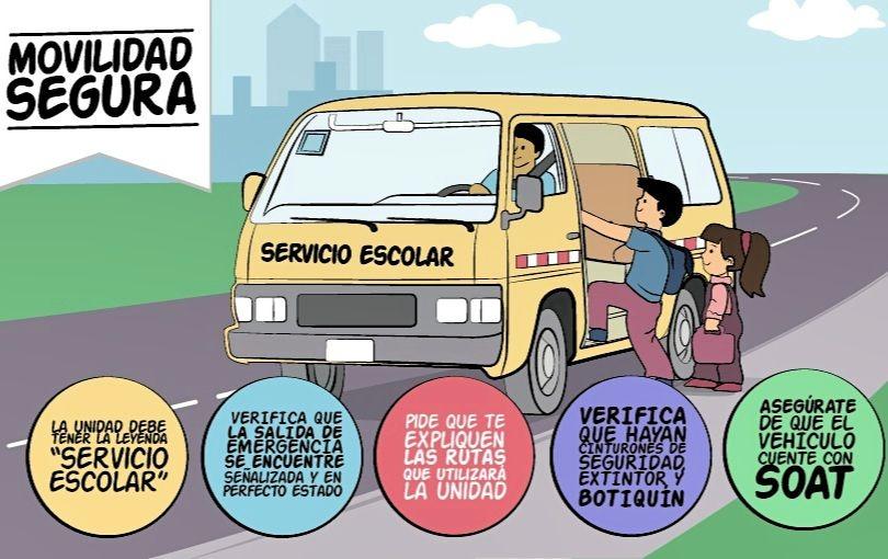 Recomendaciones para el uso de la Movilidad Escolar