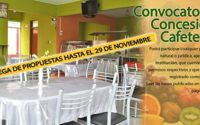 Convocatoria Concesión Cafetería – 2020