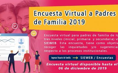 Encuesta Virtual a Padres de Familia 2019
