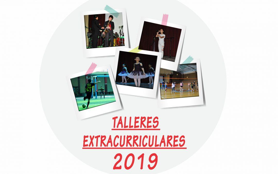TALLERES CULTURALES Y DEPORTIVOS 2019